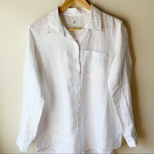 GAP Boyfriend Linen Shirt